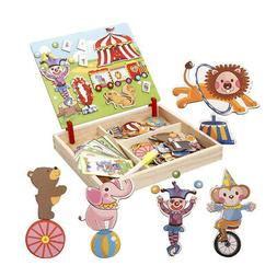 Wooden Magnetic Puzzle Toy Educational Game for Boy Girl Tod