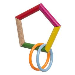 Manhattan Toy Wooden Rattle Pentagon and Teether Toy