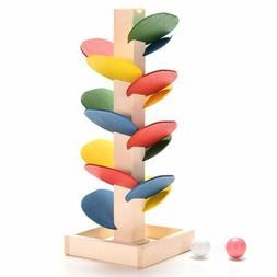 Wooden Toys for Children Blocks Tree Ball Run Track Baby Kid