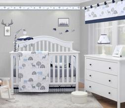 OptimaBaby Woodland Forest Deer 6Piece Baby Nursery Crib Bed