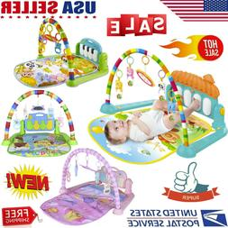 Xmas Baby Gym Floor Play Mat Musical Activity Center Kick Pl