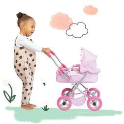 Xmas Gift Baby Doll Stroller Pram Toy For Girl Kid Pretend P